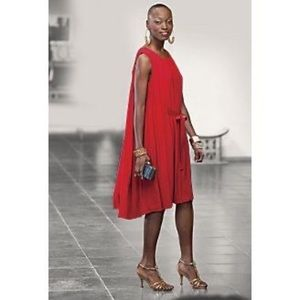 Pre-owned red cocktail dress